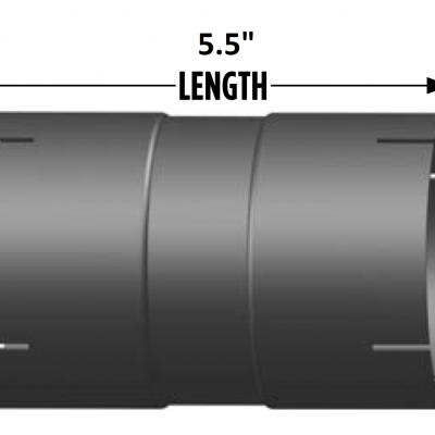 """4/"""" I.D Coupler for Exhaust Pipe 6.5/"""" Length"""